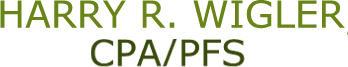 HARRY R. WIGLER, CPA/PFS Logo